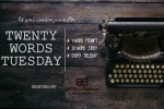 Twenty Word Tuesday banner with keyboard